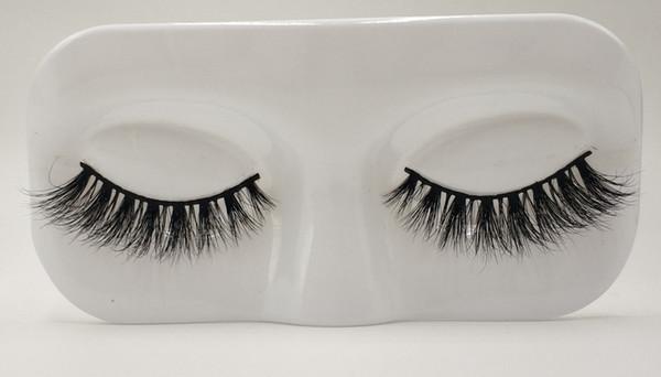 Wholesale new style 3d mink fur long thick false eyelashes strips Reusable Eyelashes Natural 1 Pair Pack MTL002