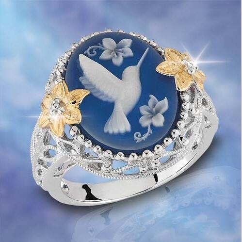 Peace pigeon ring fashion flower ring