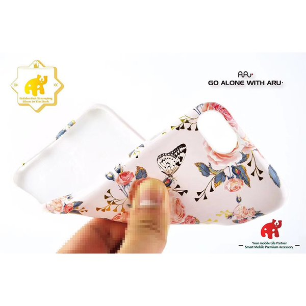 TPU flower Case Glow In The Dark With Embossed Touch Feel IP6-IPxs Max Good Quality With Retail Package