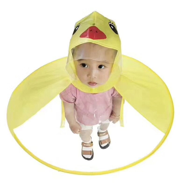 Yellow Duck Cosplay Creative design Gifts Funny Rain cap Umbrella Child Kid Adult Folding Umbrella Fishing Raincoat Cloak Hat
