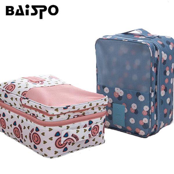ome Organization Storage s BAISPO Portable Travel Shoes Organizer Bag Double Layer Waterproof Tote Pouch Bag Underwear Bra Socks Storage...