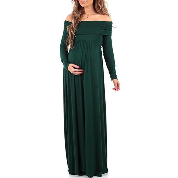 новое прибытие материнства макси платья 2018 материнства фотографии реквизит шифон Vestidos с плеч Макси беременных платье беременность фотосессия