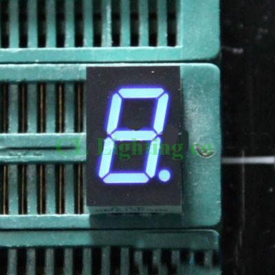 20PCS/LOT 0 39 inch 1 Bit 7 Segment BLUE LED Display Digital Tube Plastic  Metal Common anode(Nixie tube)