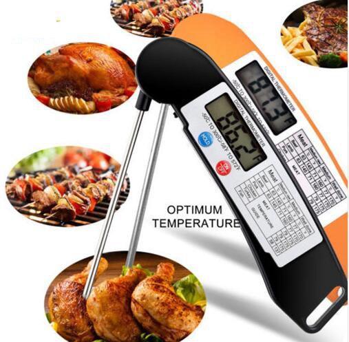 Termometro da cucina digitale pieghevole per barbecue Termometro da cucina per barbecue digitale Super veloce Termometro elettronico da cucina digitale KKA4354