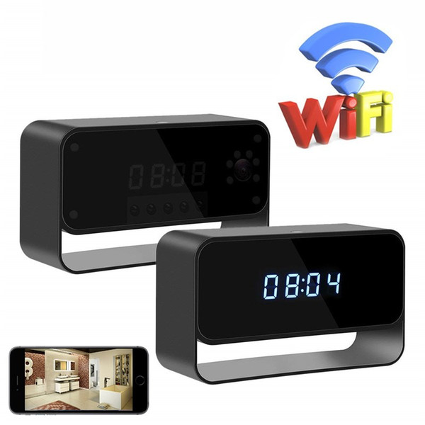 New WiFi Camera Alarm Clock Cameras HD 1080P Wireless Nanny Cam Night Vision Security Camera Smart Snap Camera for IOS Android Remote View