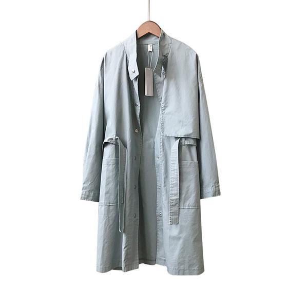 Turn-down Collar Adjustable Waist Trench Coat for Women British Full Sleeve Long European Windbreakers Elegant Fall Overcoat