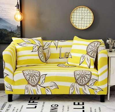 Geometic Floral Printing Elastic All Inclusive Corner Slipcovers Sofa Cover Removable Spandex Stretch Protective Couch Cover Cheap Chair Covers For