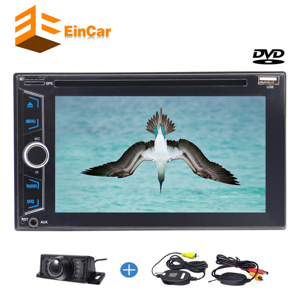 Double Din In Dash Car DVD Player Stereo AM/FM Radio SD/USB/Bluetooth/1080P/steering wheel control/Phonebook night view backup Camera