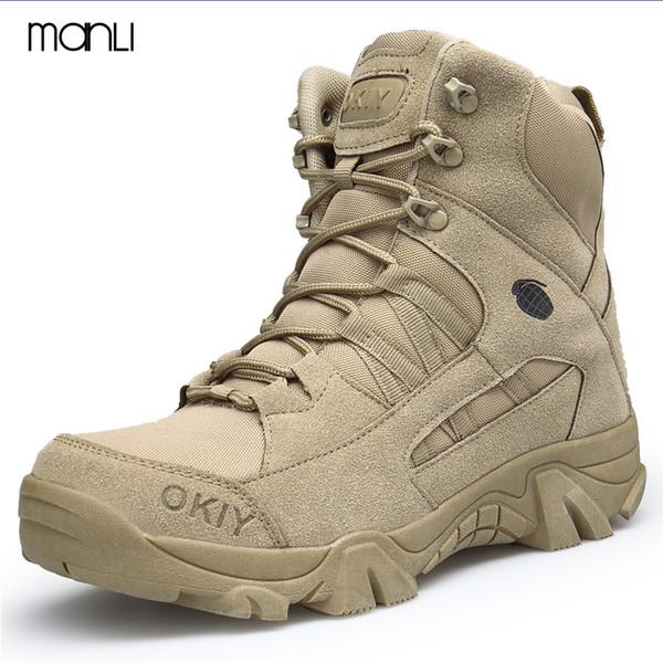 MANLI Men's Waterproof Hiking Shoes High Top Trekking Boots Sport Climbing Mountain Shoe Outdoor Walking Sneakers Large Size 45