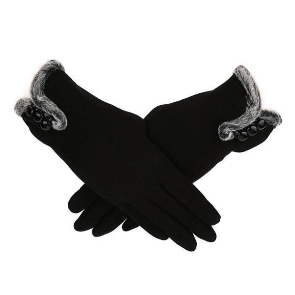 Autumn fall winter Women Cashmere Keep Warm Driving Full Fingers short Gloves Touch Screen Glove Cashmere Mittens Elegant Lady