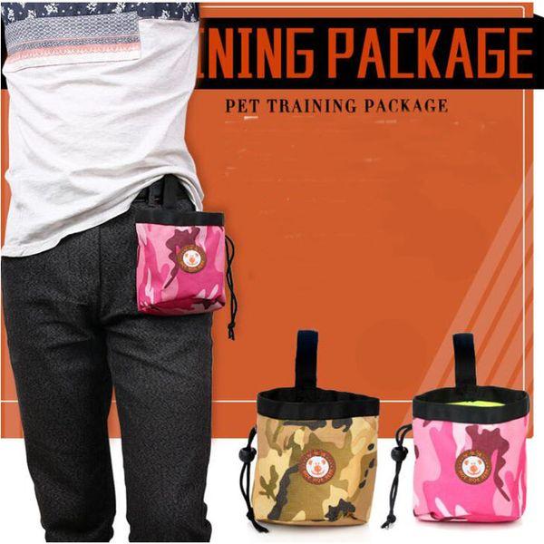 Portable Detachable Dog Training Treat Bags Doggie Pet Feed Pocket Pouch Puppy Snack Reward Waist Bag