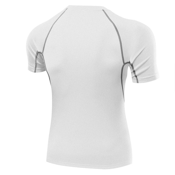 Gym clothes mans bodybuilding sports t shirt crop tops mens t-shirts dry fit pure longline B5018