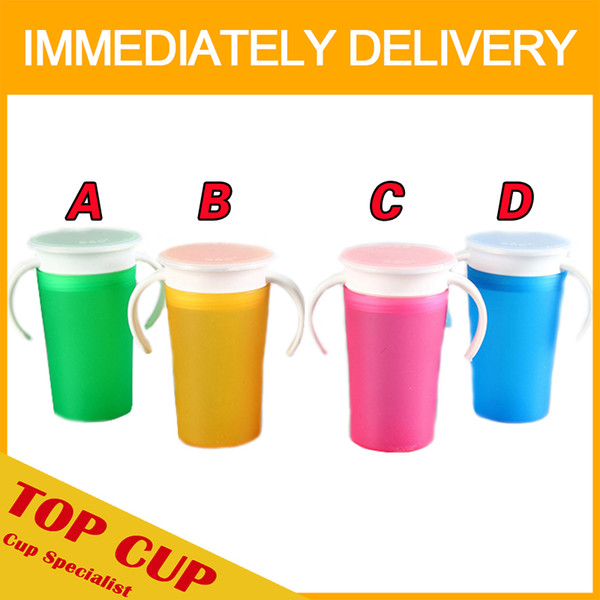 360 Degree Silicone Magic Trainer Cup Non-BPA Baby Infant leak-proof Drinking Water Cup Bottle 260ML Mug Cups Gifts 4 Styles