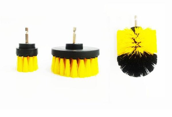 3PC Power Scrub Drill Brush Cleaning Brush Bathroom Floor Tub Shower Toilet Grout Clean Power Scrubber Cleaning Brush Kit