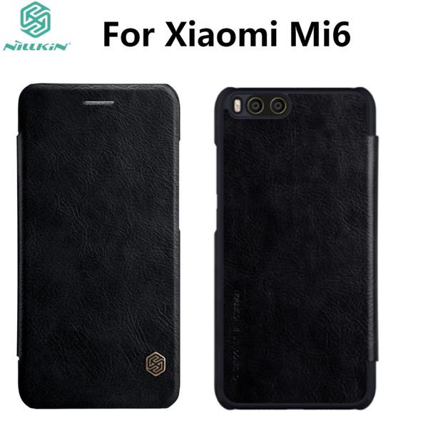 Xiaomi Mi6 Étui En Cuir NILLKIN Qin Série Portefeuille Flip Cover Case Pour Xiaomi Mi6 M6 Véritable Flip Étui En Cuir Couverture de Téléphone