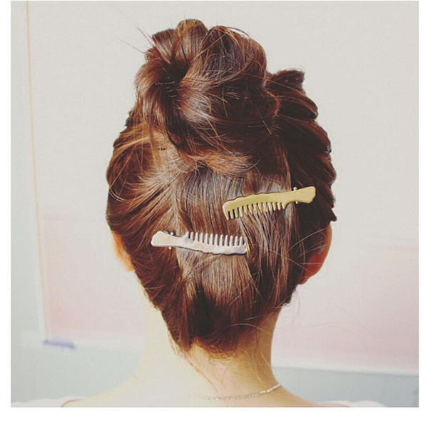 Hot style selling female 1002 temperament comb duckbill clip Bang clip hair small adorn article hair clips