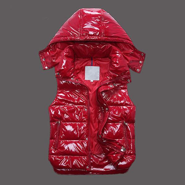 Классический бренд Мужские и женские зимние пуховые жилетки с капюшоном с капюшоном из натуральной кожи женские повседневные жилеты пальто мужские пуховики верхняя одежда размер: XS-XXXXL