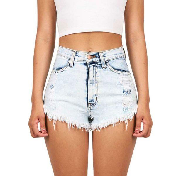 2063 Women's Night Club Sexy Distressed Denim Shorts Vintage Tassel Ripped Loose High Waist Punk Short Jeans