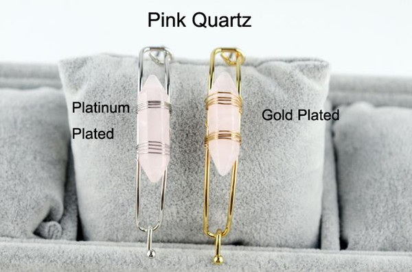 Pink Quartz With Gold Plated