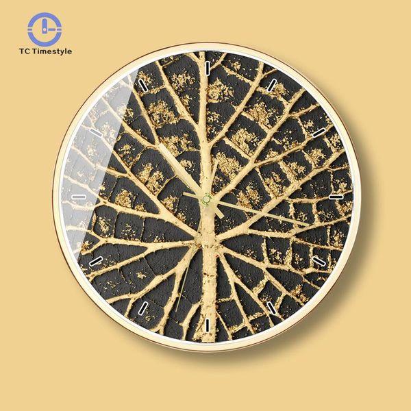 Black Gold Art Wall Clock Light Luxury Minimalist Living Room Home Decoration Accessories Modern Creative Wall Clocks