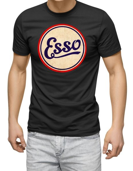 Esso T shirt motor sport oil tee racing touring can vintage tee black Cool Casual pride t shirt men Unisex New Fashion