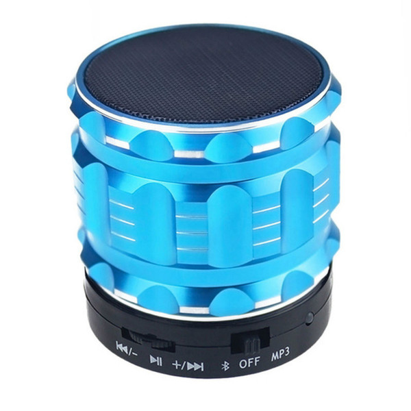 Mini Bluetooth Speaker S28 Metal Steel Wireless Smart Hands Hi fi Speaker With FM Radio Support SD Card Colors Mixed Speakers VS S10 A9 A10
