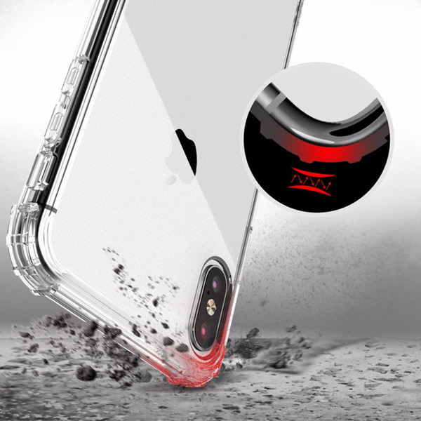 pour iphone X 6/7/8 / 9s XS max plus coque de protection Air Cushin Technology samsung s8 / 9 plus note5 / 8/9 gel transparent antichoc