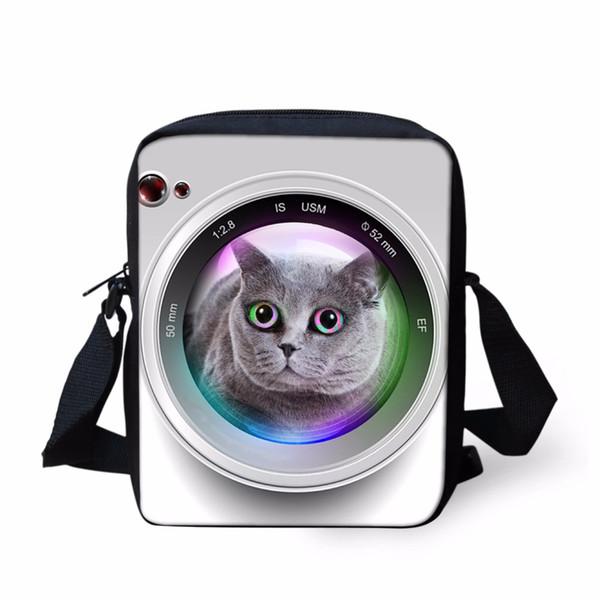 Noisy Designs 3D Animal Camera Lens Messenger Bags Women Shoulder Bag Crossbody for Girl BoyHandbags Tiger Dog Messenger Bags