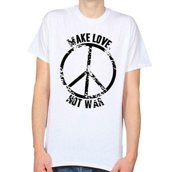 FUN T SHIRT MAKE LOVE NOT WAR,PEACE