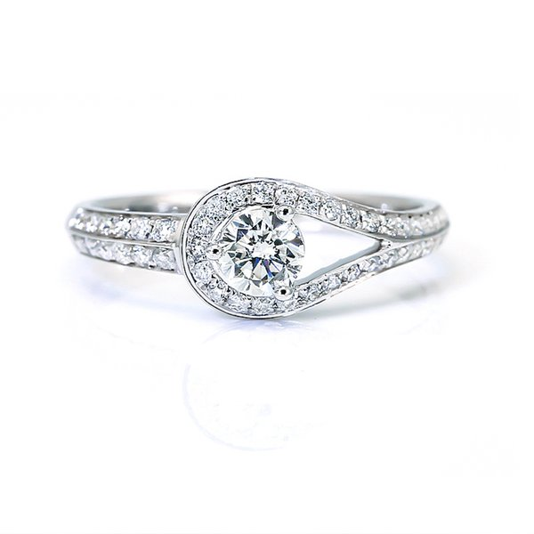 9K,14K,18K Gold Jewelry 1Ct Water Droplets Shape Elegant Wedding Forever Brilliant Moissanite Diamond Ring With Certificate