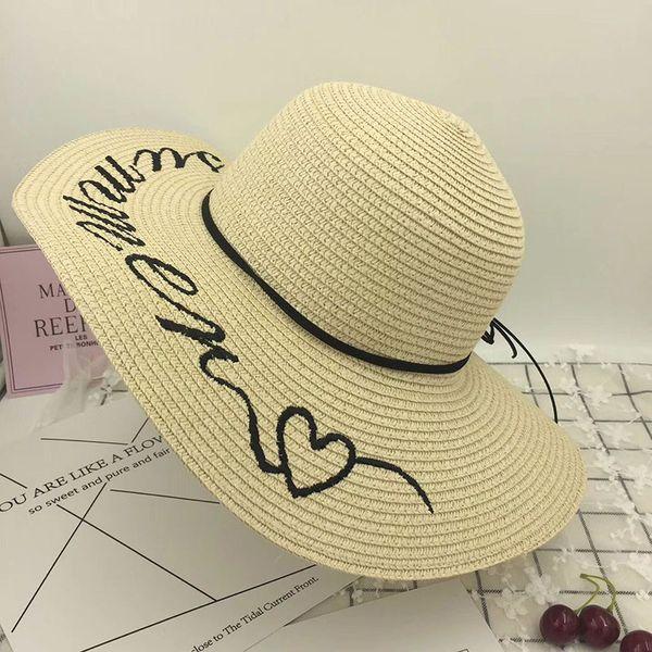 Nova Moda Elegabt Vintage Palha Carta Chapéus de Sol Para As Mulheres  Menina Verão Praia Panamá 2884b05dba2
