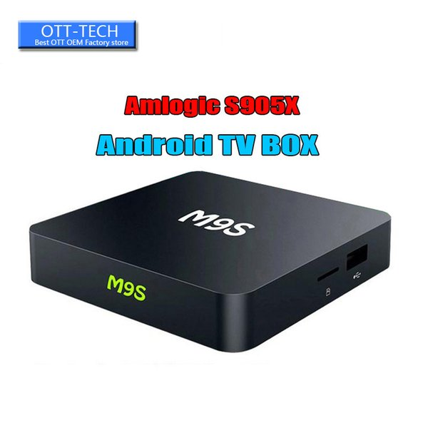 [Genuine] M9S X1 TV Box Amlogic S905X Quad Core Android 6.0 Marshmallow RAM 1GB ROM 8GB Wifi HDMI 2.0 DHL Better TX3 MINI S905W