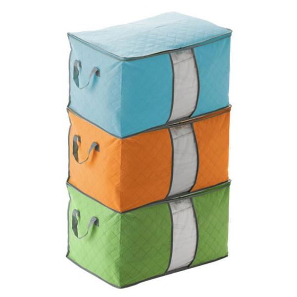Sac de rangement Portable Rectangle Durable Tissu Conteneur Organisateur Non Tissé Fordable Pouch Stockage Couverture Pour Vêtements Épicerie