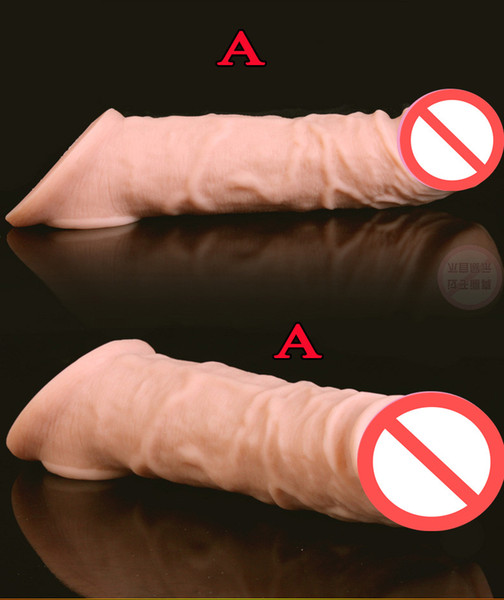 best selling Super Soft Realistic Silicone Penis Extender Sleeve Cock Enlargement Enhancer Reusable Delay Gonobolia Dick Ring Adult Sex Toy For Men 312