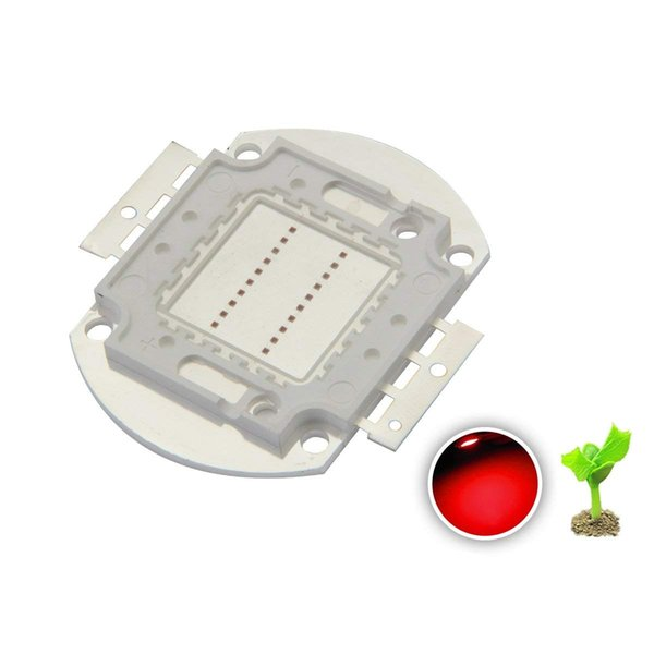 High Power Led Chip 20W Deep Red Plant Grow Light SMD COB Emitter Diode Components 20 W Bead for DIY Hydroponic/Flower Growing Lamps