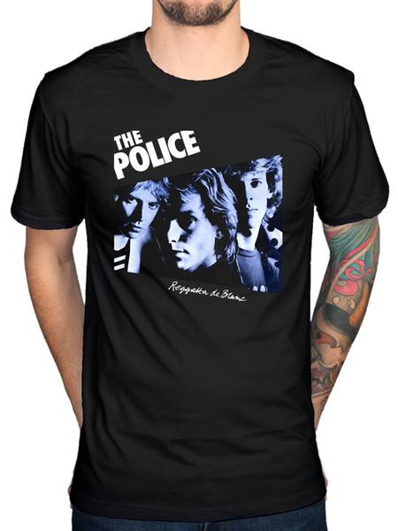 Официальный полиции Реггатта футболка Outlandos D'Amour Sting синхронность Blanc пользовательские печатные футболки хип-хоп смешные рубашки бесплатная доставка