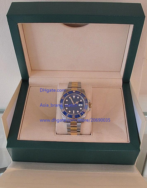 Luxury High Quality Watch + Box 40mm blue Ceramic Bezel blue Dial 116613 116613LB Stainless Steel Asia 2813 Movement Automatic Mens Watches