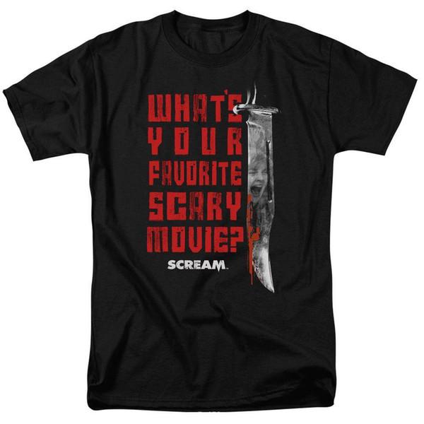 SCREAM FAVORITE MENS T SHIRT SM TO 5XMens 2018 fashion Brand T Shirt O-Neck 100%cotton T-Shirt Tops Tee custom