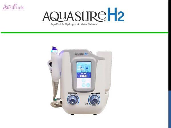 Aquasure H2 oxygen small bubbles AquaPeel Hydrogen Water Galvanic hydrafacial vacuum blackhead remover cleaning beauty machine