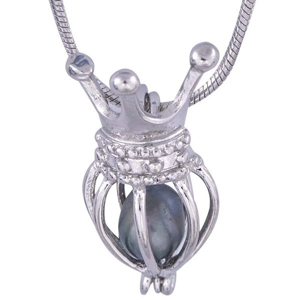 Valentine's Day plated Silver crow balloon Cage Pendants cool style for your sweetheart for women P21