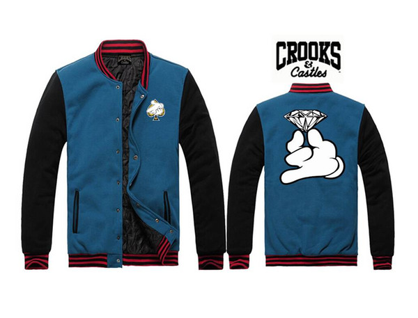 Crooks and Castles Jacken Herren Wintermäntel Casual Sport neue Stil Oberbekleidung für Verkauf HipHop-Jacke für Männer Herrenbekleidung J12