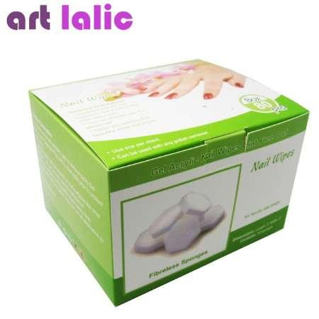 Lint Free Nail Wipes fibreless sponges 80 count - For Acrylics, Wraps, UV Gels Gentle Disposable