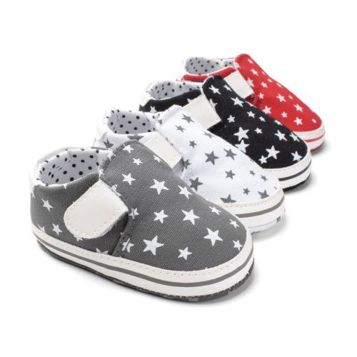 Toddler Infant Baby Boys Girls Shoes Casual Crib Shoes Prewalker Soft Sole Sneakers Star Print Cute Baby