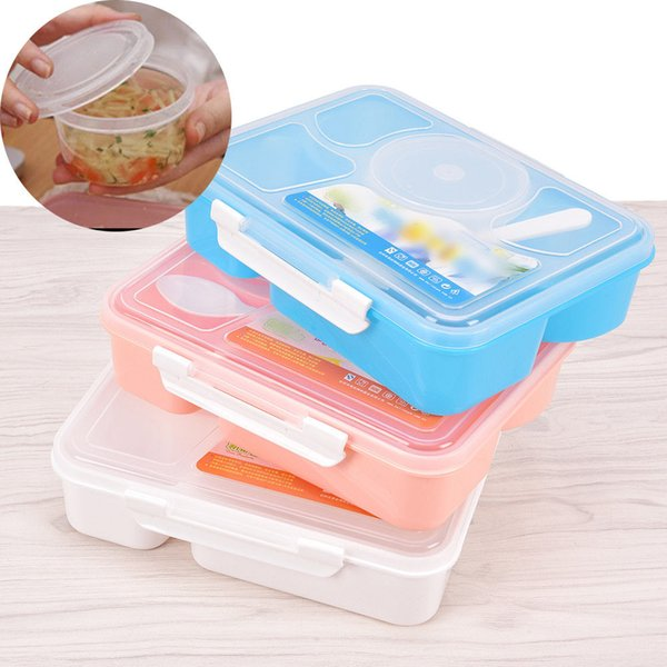 5 in 1 Lunch Box Microwave Fruit Food Container Portable Picnic Storage Box Outdoor Travel Bento Box For Kid School Lunch FFA006
