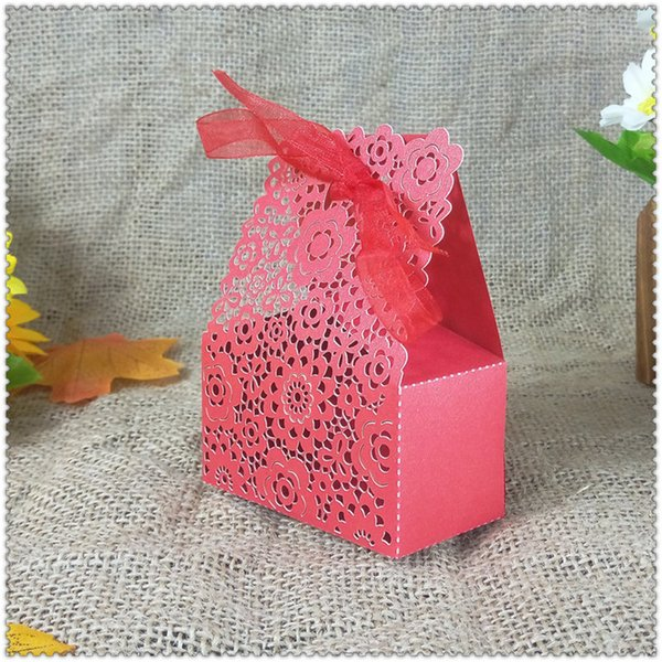 50pcs wedding candy gift box ribbon party Christmas candy box birthday party decoration baby shower 6ZT21