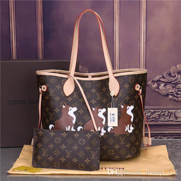 2019 Moda Clássica famosa marca mulheres casual tote bag PU bolsas Ombro Tote Bags purse frete grátis22