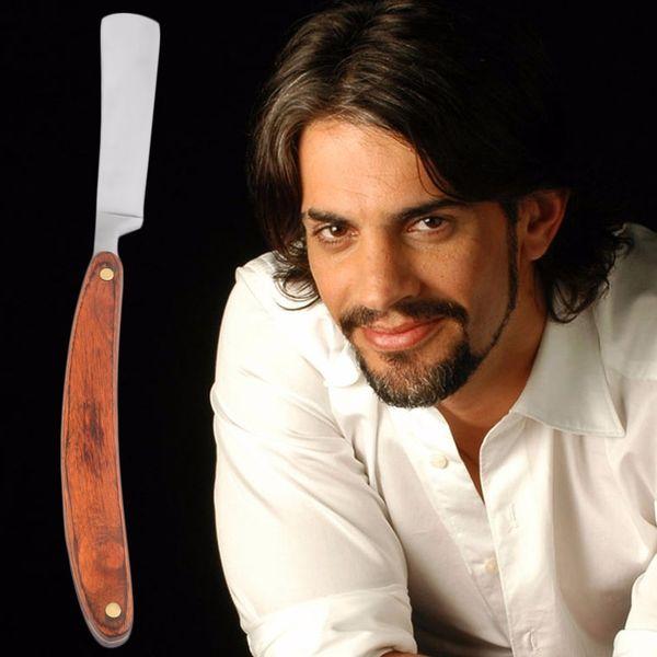 1pc Straight Edge Razor Steel Folding Shaving Wood Handle Knife Barber Beard Top Quality