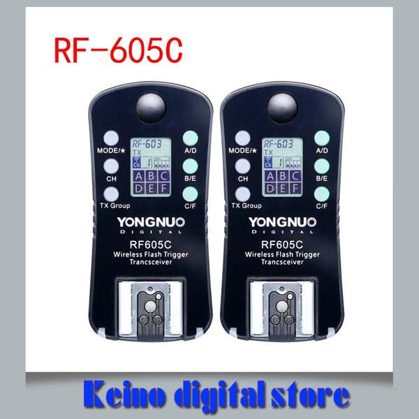 venta al por mayor RF-605C RF605C RF 605C RF605 C Disparador de flash inalámbrico para Cann versión de actualización de RF-603 II