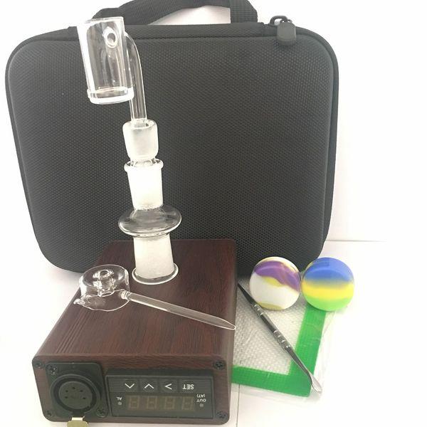 2018 wax vapor Enail E-nail kits portable oil rig dab vaporizer temperature controller e nail quartz nails 14mm 18mm male & female carb cap