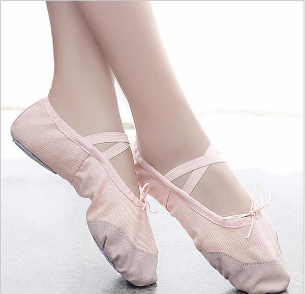 Leinwand Flache Hausschuhe Rosa Rot Schwarz Salsa Ballettschuhe Für Mädchen Yoga Gym Flache Hausschuhe Ballerina Tanzschuh für Baby Kinder